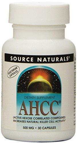 Ahcc 500 Mg Capsules (Source Naturals AHCC 500mg, 30 Vegetarian Capsules)