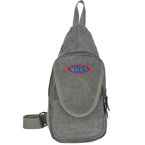 Hans Canvas Chest Pack NHRA Championship Drag Racing Sports Shoulder Backpack Casual Bags ForestGreen