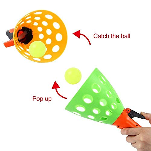 FunBlast Click and Catch Twin Ball Game Indoor Outdoor Toy Set, Pop & Catch Ball Play Fun Boys & Girls (Color May Vary) 2