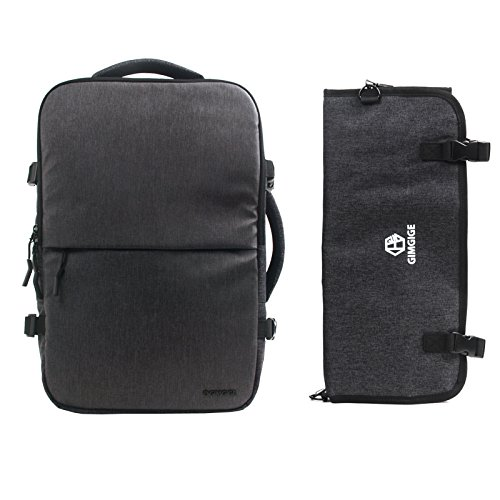 Knife Backpack Chef Roll Bag Overnight Bag Travel Daypack Laptop School Bookbag (Black) by Gimgige