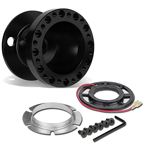 DNA Motoring HUB-ALU-OR18-BK 6-Hole Steering Wheel Hub Adaptor (Miata Steering Wheel Hub)