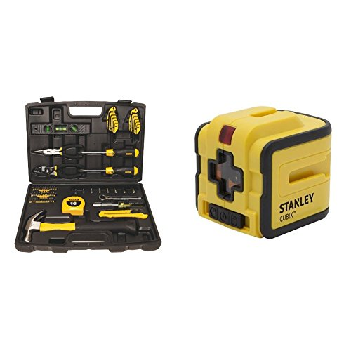 STANLEY 94-248 65-Piece Homeowner's Tool Kit with STHT77340 Cubix Cross Line Laser