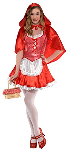 Make It Yourself Costumes For Couples (Amscan Junior's Miss Red Riding Hood Halloween Costume Medium (7-9))