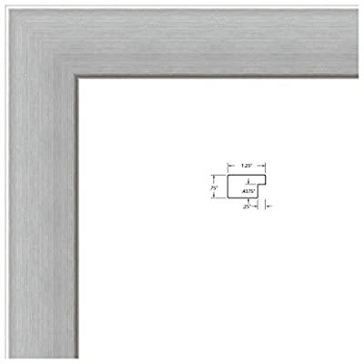 ArtToFrames 10x10 / 10 x 10 Picture Frame Satin White .. 1.25'' wide (WOMFRBW26)