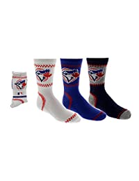 Toronto Blue Jays Boys 3-Pack Crew Socks