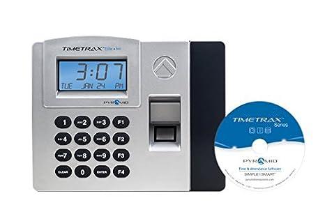 Pirámide timetrax Elite Control de acceso sistema automatizado de reloj de tiempo biométrico de huellas digitales - Ethernet - fabricado en los Estados ...