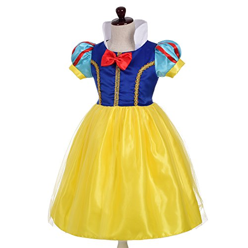 Dressy Daisy Girls' Princess Snow White Costume Fancy Dresses Up Halloween Party Size 8/10