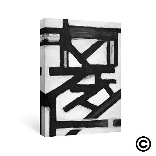SUMGAR Abstract Wall Art Black and White Canvas Paintings Bedroom Modern Pictures Artwork,16x24 inch