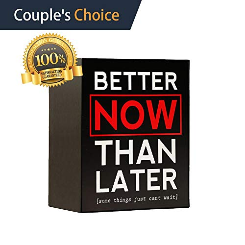 Better Now Than Later | A Fun Date Night Box Party Game for Couples, Married, Newlywed, Adults, Wedding, Anniversary, Relationships, Bachelorette, Bridal Shower | Gift for Him and Her