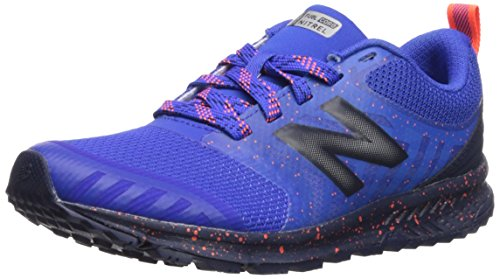 New Balance Boys' Nitrel v3 Trail Running Shoe, Pacific/Pigment, 1 W US Little ()