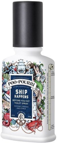 Ship Ounce 4 (Poo-Pourri Before-You-Go Toilet Spray 4-Ounce Bottle, Ship Happens Scent)