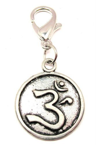 (Chubby Chico Charms Ohm In Circle Pewter Charm on a Zipper Pull)