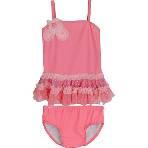 Isobella & Chloe Baby Girls Salmon Venus de Milo Two Piece Tankini Swimsuit 24M