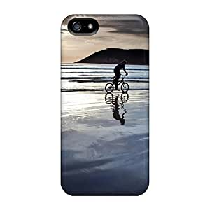 (uEVVnQY1687uHqDh)durable Protection Case Cover For Iphone 5/5s(biking On The Beach At Sundown)