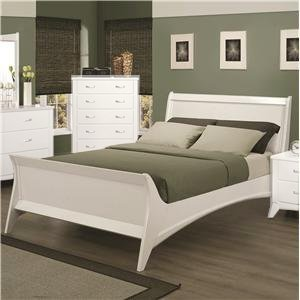 eleanor sleigh bed with elegant curved side rails | Amazon.com: Eleanor King Sleigh Bed with Elegant Curved ...
