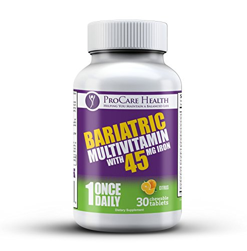 **New Enhanced Formula**Bariatric Complete Chewable Multi-Vitamin Once Per Day 30 Count- Designed for RNY, Sleeve, Bypass and Switch Surgery Patients- 1 Month Supply