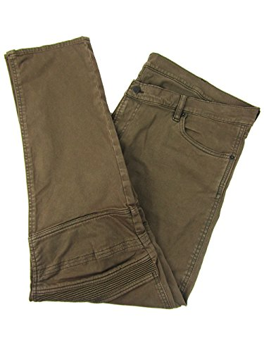 Polo Ralph Lauren Men's Stretch Moto Jeans (42W X 32L, Brown) by Polo Ralph Lauren