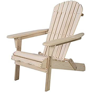 Charmant Giantex Wood Adirondack Chair Foldable Outdoor Fir Wood Construction For  Patio Deck Garden Deck Furniture (Wood)
