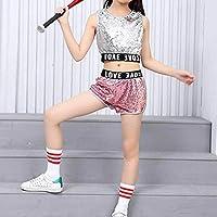 Huatime Ropa Danza Niña Vestidos - Niños Adulto Jazz Hip Hop Moderno  Disfraces Lentejuelas Trajes Moda Conjuntos Chaleco + Pantalones Cortos  Abrigo 62bada190b6