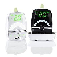 Babymoov Premium Care Babyphone Audio avec Talkie Walkie Temperature VOX et Veilleuse, Portée 1400 m
