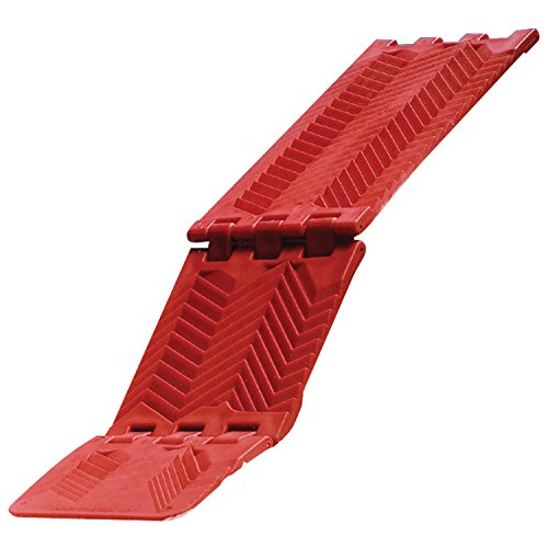 MAXSA Foldable Traction Mat, Car Extraction Mat for tires stuck in Snow, Sand & Mud, Red 20025 by Maxsa Innovations