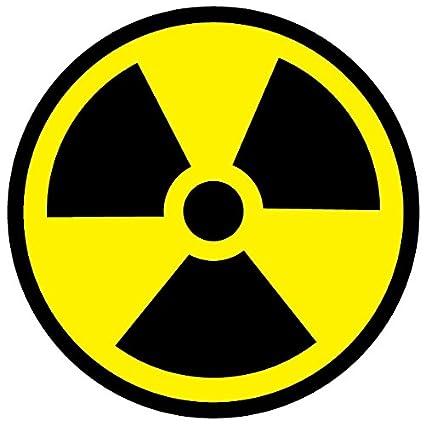c0c1babaf4 radioattivo simbolo radiazioni avvertimento autoadesivi adesivi in vinile di  sicurezza: Amazon.it: Fai da te
