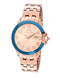 Porsamo Bleu Olivia Stainless Steel Rose Tone and Blue Women's Watch 982COLS