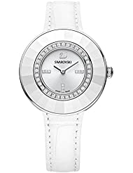 Ladies Swarovski Crystal Octea Dressy White Leather Watch 5080504