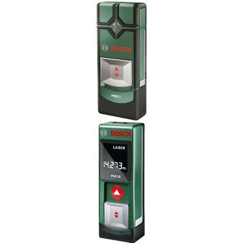 Bosch PMD 7 - Multi detector de tuberías (detección hasta 7 cm de profuncidad) + Bosch PLR 15 - Medidor láser/detector: Amazon.es: Bricolaje y herramientas