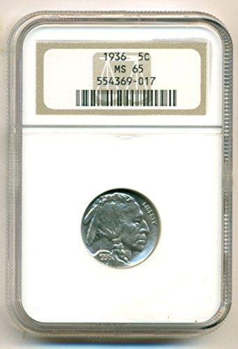 1936 Buffalo Nickel MS65 NGC