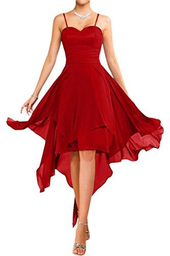 alla damigella estate abito da Chiffon danza matrimonio d'onore corto traeger spalline abiti Victory sposa Bridal senza moda Rot per abiti Vestito in PxYZTgqE