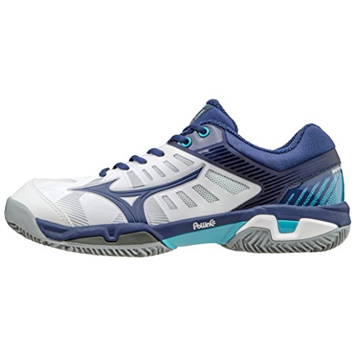 Mizuno Shoes Tennis Officially Wave Exceed SL CC Clay Court 61GC165314 Bianco Blu Turchese Size 41 SHIPPED FROM ITALY