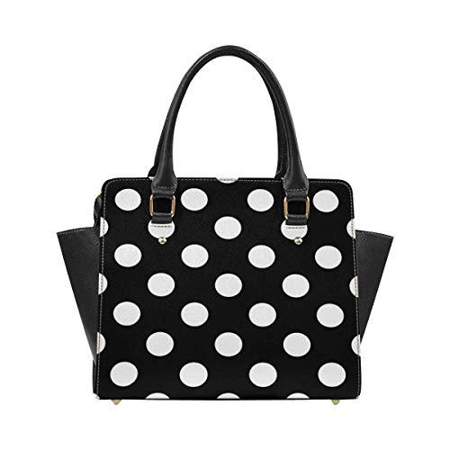InterestPrint Big Polka Dot Pattern Polka Dot Women Top Handle Satchel Handbags Shoulder Bag Tote Purse