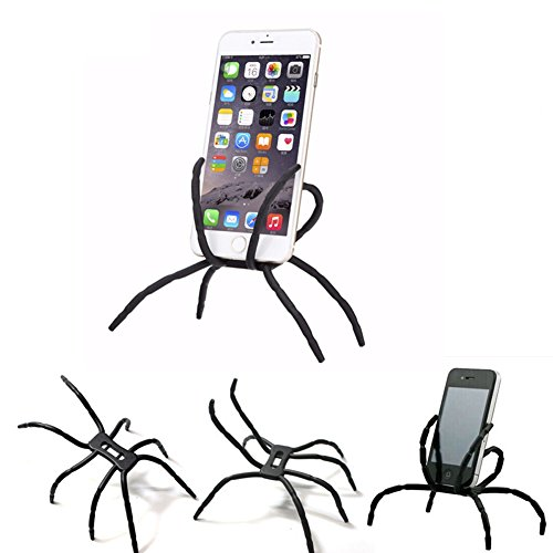 Xmiker Universal Multi-function Portable Spider Flexible Grip Smart Phones Mobile Phone Holder hanging Mount and Stand for iPod iPhone 4/4S/5/5S/6 Samsung Galaxy Andriod (Spider Man Noir Costume)
