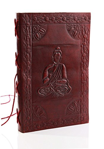 200 Pages Handmade Buddha Leather Blank Journal Personal Travel Diary Notebook