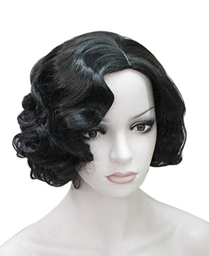 ROLECOS Flapper Wig Short Wavy Marilyn Monroe Costume Wig Christmas Party Cosplay -5 ()