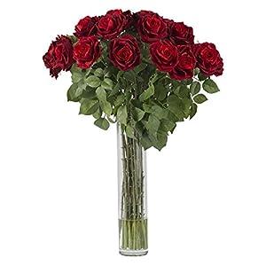 Large Red Rose Silk Flower Arrangement 32