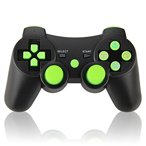 Wireless Double Vibration Game Controller for PS3, Bluetooth Sixaxis Gamepad Remote for Sony PS3 Playstation 3