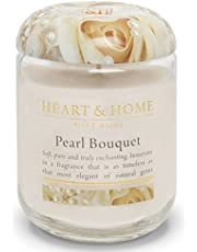 Heart & Home Large Glass Jar Candle, Pearl Bouquet, 300g