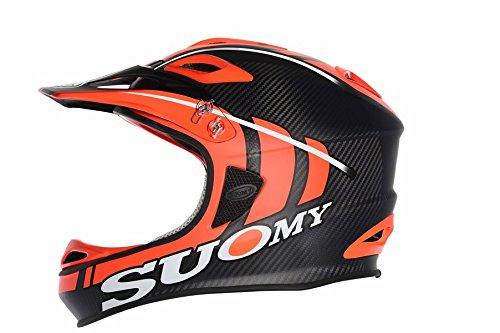 Fietshelm Suomy Jumper Carbon Fluo XL Oranje Mat Zwart