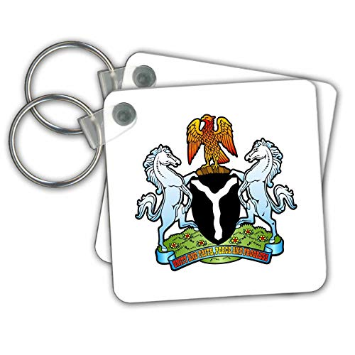 gns - Nigeria Coat of Arms - Key Chains - set of 2 Key Chains (kc_300154_1) ()