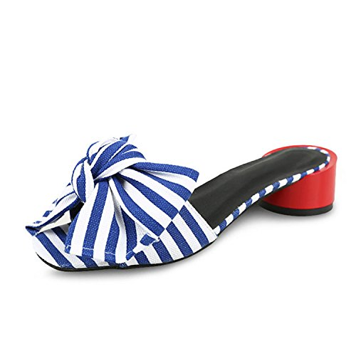 Woman Wedges On Slip Flip Shoes Women Sandals Leisure Summer Blue Women's Shoes Slippers Fashion Platform Striped Flops Jwhui 6wOFz5xqnA