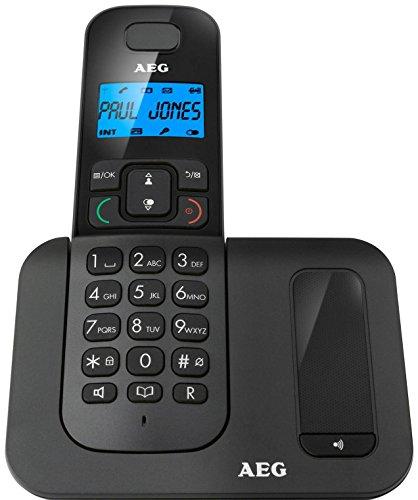 AEG VOXTEL D500 schnurloses DECT-Telefon mit 1,6 Zoll (4,1 cm) großem hintergrundbeleuchtetem Display