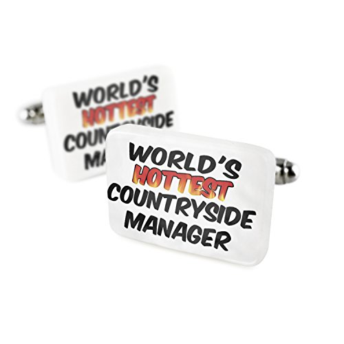 Cufflinks Worlds hottest Countryside Manager Porcelain Ceramic NEONBLOND