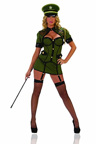 Starline Sexy Army General Women's Costume, Green, ()