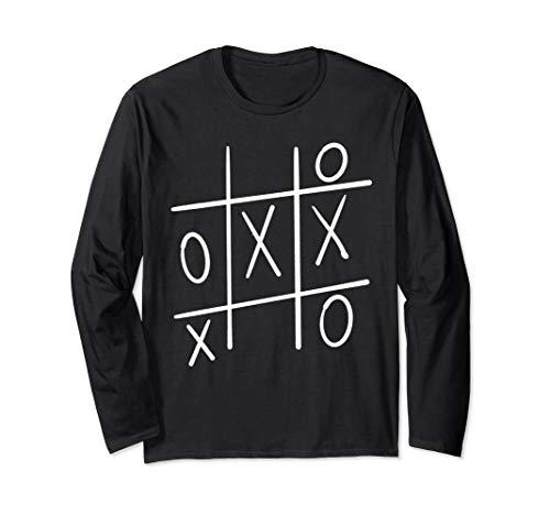 Funny Tic Tac Toe Halloween Shirt Noughts and Crosses Shirt Long Sleeve T-Shirt]()