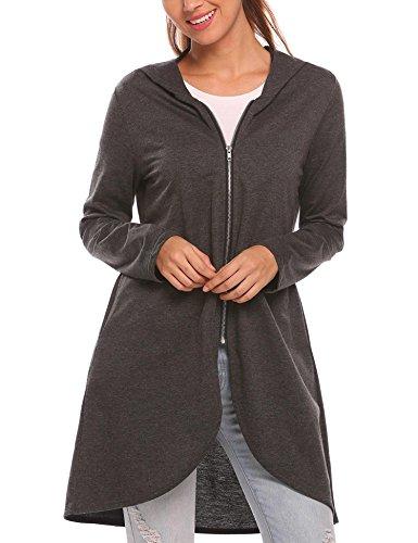 Zeagoo Women's Casual Light Oversized Zip Hoodie Sweatshirt Jacket Zip Hoodie Jumper