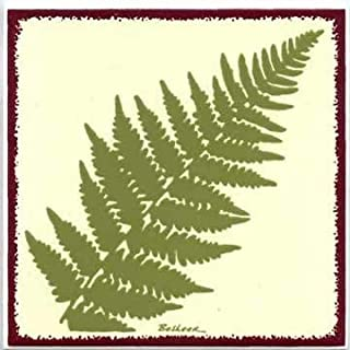 product image for Besheer Art Tile Tiles, Wall PLAQUES and TRIVETS, Hand Painted with Botanical Themes - Ferns # BB-1