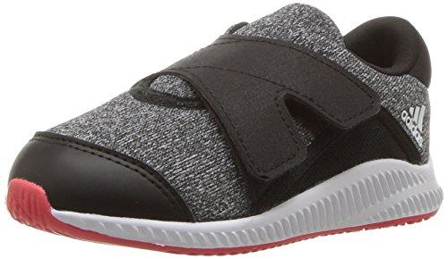 (adidas Boys' Fortarun, Core Black/White/Real Coral, 4 M US Toddler)