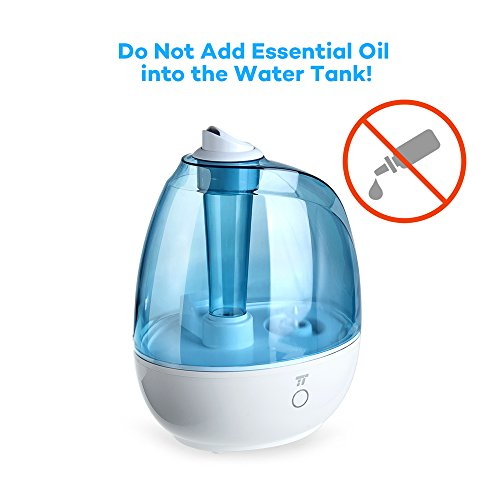 TaoTronics TT-AH009 Humidifier, Ultrasonic Cool Mist Humidifiers for Bedroom, Baby Room, Nursery, Small & Space-saving, Filter Free, Whisper Quiet, BPA FREE-(2L/0.5Gallon, US 110V) by TaoTronics (Image #6)